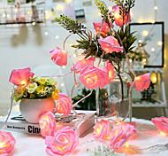 abordables -3m 20led rose rose fleur LED guirlandes lumineuses guirlandes lumineuses à piles batterie valentine noce décoration de noël lampe sans batterie