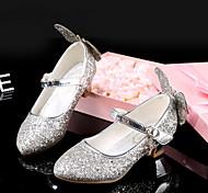 abordables -Fille Chaussures à Talons Chaussures de Demoiselle d'Honneur Fille Chaussures de princesse Halloween Polyuréthane Grands enfants (7 ans et +) Argent Printemps