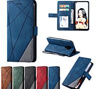 economico -telefono Custodia Per Huawei Per retro Custodia in pelle Custodia flip Huawei P20 lite Huawei P30 Huawei P30 Lite Mate 30 Lite Goditi il 7S 2019 Resistente agli urti Con chiusura magnetica Con onde