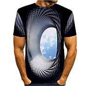 abordables -Homme T-shirt Chemise Graphique 3D Print Imprimé Manches Courtes Quotidien Hauts basique Col Rond Bleu Vert Rose rouge