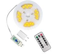 abordables -5m 50 leds boîtier étanche guirlandes lumineuses 1 13 touches télécommande configurable US EU UK plug blanc chaud étanche extérieur USB 5 V fête veilleuse 1 set