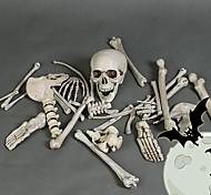 abordables -Crâne Accessoires d'Halloween Femme Halloween Halloween Fête / Célébration Plastique Gris Noir Femme Homme Facile Déguisement Carnaval