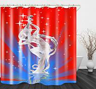 abordables -scène art performance impression numérique rideau de douche en tissu imperméable pour salle de bain décor à la maison rideaux de baignoire couverts doublure comprend avec crochets