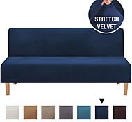 abordables -housse de canapé housse de futon housse de velours housse de canapé sans accoudoirs housse de canapé housse de canapé-lit adaptée pour futon longueur entre 68 '' - 85 '' largeur entre 28 '' - 48 ''