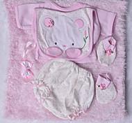 abordables -Vêtements de poupées Reborn Baby Accessoires de poupée Reborn Tissu en Coton pour poupée Reborn de 22 à 24 pouces Poupée Reborn Non Incluse Lapin Doux Pur fait main Fille 5 pcs
