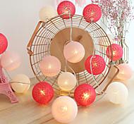 abordables -3 m 20led boule de coton lampe guirlande led guirlandes lumineuses alimenté par batterie noël guirlandes de mariage chambre en plein air vacances fête décoration sans batterie