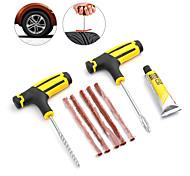 economico -kit di riparazione pneumatici per auto kit di riparazione pneumatici set di strumenti per borchie auto bici tubeless spina per foratura pneumatici accessori auto garage