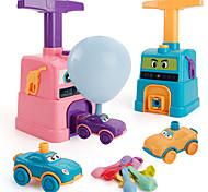 abordables -Voitures à propulsion par ballon Voitures aérodynamiques Dessin Animé Coloré Plastique Mini véhicules de voiture jouets pour cadeau d'anniversaire ou cadeau d'anniversaire pour enfants