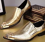 abordables -Homme Mocassins et Chaussons+D6148 Chaussures habillées Quotidien Soirée & Evénement Cuir Fait à la main Dorée Argent Eté