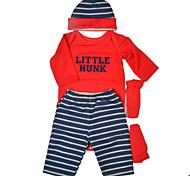 abordables -Vêtements de poupées Reborn Baby Accessoires de poupée Reborn Tissu en Coton pour poupée Reborn de 22 à 24 pouces Poupée Reborn Non Incluse Thème classique Doux Pur fait main Garçon 4 pcs