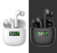 economico -J3Pro Auricolari wireless Cuffie TWS Bluetooth5.0 Con la scatola di ricarica Accoppiamento automatico Display di alimentazione a LED per Apple Samsung Huawei Xiaomi MI Cellulare