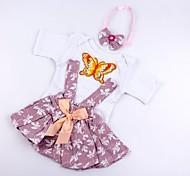 abordables -Vêtements de poupées Reborn Baby Accessoires de poupée Reborn Tissu en Coton pour poupée Reborn 17-18 pouces Poupée Reborn Non Incluse Forme de Feuille Doux Pur fait main Fille 3 pcs