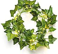 economico -2 m 20 led piante artificiali stringa verde chiaro foglia edera vite fata foglie d'acero ghirlanda fai da te appeso decorazione per la casa di nozze 1 pz 2 pz 4 pz