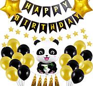 abordables -Ballons de fête 21+7 pcs Panda Articles de fête Ballons en latex Bannière Garçons et filles Soirée Anniversaire Décoration 12-18inch pour les fournitures de fête ou la décoration de la maison