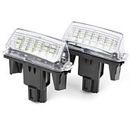 abordables -2 pcs 12 v plaque d'immatriculation lumière pour toyota pour camry pour corolle pour yaris pour coléoptère canbus xénon led numéro lumière de licence