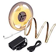 abordables -ZDM nouveau étanche 16.4ft 5m cob led bande de lumière cri 80 60w led corde lumière bande flexible lumière adaptée aux exigences élevées de bureau et à la maison éclairage commercial dc12v