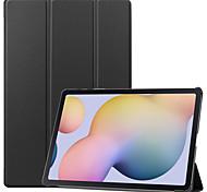 economico -telefono Custodia Per Samsung Galaxy Integrale Tab S6 Lite (SM-P610 / 615) Con chiusura magnetica Tinta unita TPU PC
