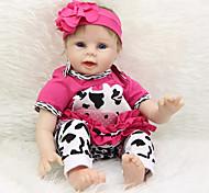 abordables -Vêtements de poupées bébé Reborn Accessoires pour poupées Reborn Tissu en Coton pour poupée Reborn 22-24 pouces Ne pas inclure la poupée Reborn Cow Doux Pur fait main Fille 4 pcs