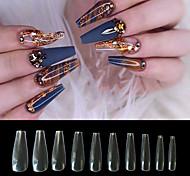 abordables -ongles en acrylique naturel pointe des ongles français 500pcs faux ongles demi-couverture faux ongles avec étui pour salons de manucure et bricolage nail art 10 tailles