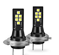 abordables -otolampara 2 pièces h7 ampoules de voiture 12 w smd 3030 1400 lm 12 clignotants à LED pour tous les modèles universels 2018/2017/2019