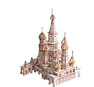 abordables -Puzzles 3D Maquette en Papier Bâtiment Célèbre Eglise cathédrale A Faire Soi-Même Papier cartonné Enfant Unisexe Jouet Cadeau