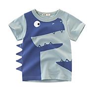 economico -Bambino Da ragazzo maglietta T-shirt Manica corta Dinosauro Animali Blu Giallo Verde Cotone Bambini Top Estate Moda città Fantastico Sportivo Standard 2-8 anni