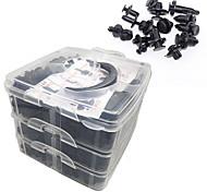 abordables -620pcs Clips de retenue de pare-chocs Rivets en plastique de voiture Attaches Kit de retenue de poussée Tailles les plus populaires Jeu de rivets à goupille automatique - Clips d'aile de panneau de