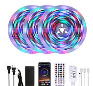 abordables -Mashang lumineux rgbw led bandes lumineuses étanche 15 m musique sync smart led tiktok lumières 3510leds 2835 changement de couleur avec 40 touches télécommande bluetooth contrôleur pour la maison