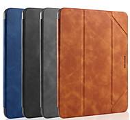 abordables -téléphone Coque Pour Apple Coque Intégrale iPad Mini 4 iPad Mini 5 Antichoc Clapet Mise en veille automatique Couleur Pleine faux cuir TPU