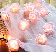 abordables -6m 40led rose rose fleur LED guirlandes lumineuses guirlandes lumineuses à piles batterie valentine noce décoration de noël lampe sans batterie