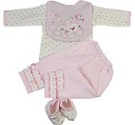 abordables -Vêtements de poupées Reborn Baby Accessoires de poupée Reborn Tissu en Coton pour poupée Reborn de 22 à 24 pouces Poupée Reborn Non Incluse Lapin Doux Pur fait main Fille 4 pcs