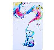 economico -telefono Custodia Per Samsung Galaxy Integrale Samsung Tab A 8.0 2019 SM-P200 / P205 Rotazione a 360° Resistente agli urti A calamita Frasi famose Farfalla Panda pelle sintetica TPU