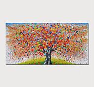 abordables -Peinture à l'huile Hang-peint Peint à la main Format Horizontal Abstrait A fleurs / Botanique Moderne Inclure cadre intérieur