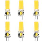 abordables -6pcs 10 W LED Gel de silice Maïs Lumières LED Bi-broches Lumières G4 2508Cob Haute Puissance LED Partie Créative Décoratif Lustre En Cristal Source de Lumière Ampoules À Économie D'énergie Blanc Chaud