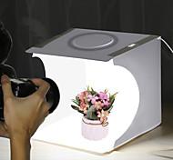 economico -puluz pu5023 20cm anello luminoso portatile pieghevole mini tenda da tiro lightbox softbox con fondale
