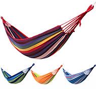 abordables -Hamac de Camping Extérieur Portable Compact Durable Pliage Toile pour 1 personne Camping / Randonnée Chasse Pêche Rayure Orange / Vert Fuchsia Bleu / blanc 200*80 cm