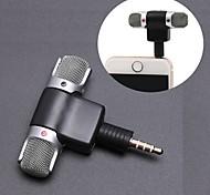 economico -Microfono stereo con microfono mini jack da 3,5 mm per la registrazione di un microfono da intervista in studio a 4 pin per smartphone