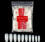 abordables -ongles de cercueil 600pcs faux ongles longs ongles de ballerine couverture complète ongles artificiels naturels 10 tailles