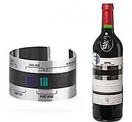 economico -bottiglia termometro per vino display lcd che serve festa checker braccialetto negozio bar utensili da cucina in acciaio inossidabile
