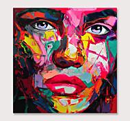 economico -Hang-Dipinto ad olio Dipinta a mano Quadrato Astratto Ritratti Moderno Senza telaio interno  (senza cornice)