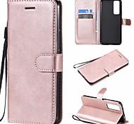 economico -telefono Custodia Per Tablet Huawei Integrale nova 7 SE Nova 7 5G nova 7 Pro 5G Porta-carte di credito Con chiusura magnetica Tinta unita pelle sintetica