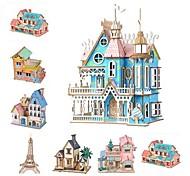 abordables -Puzzles 3D Puzzle Jouet Educatif Bâtiment Célèbre Maison A Faire Soi-Même En bois Classique Enfant Adulte Unisexe Garçon Fille Jouet Cadeau