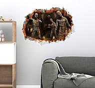 abordables -fête d'halloween décor d'halloween fantôme d'horreur 3d halloween zombies stickers muraux stickers muraux décoratifs, pvc décoration de la maison sticker mural décoration murale / amovible 45 * 60 cm