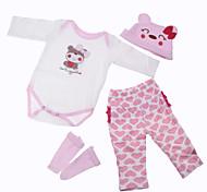 abordables -Vêtements de poupées Reborn Baby Accessoires de poupée Reborn Tissu en Coton pour poupée Reborn de 22 à 24 pouces Poupée Reborn Non Incluse Cœur Doux Pur fait main Fille 4 pcs