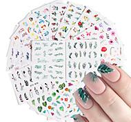 abordables -29 feuilles autocollants à ongles nail art autocollants de transfert d'eau flamme oiseau fleur style frais pour bricolage décorations d'art d'ongle
