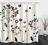 abordables -Peinture pissenlit impression numérique rideau de douche en tissu imperméable pour salle de bain décor à la maison couvert de rideaux de baignoire doublure comprend avec crochets