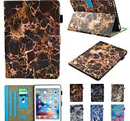 abordables -téléphone Coque Pour Apple Coque Intégrale iPad Mini 3/2/1 iPad Mini 4 iPad Mini 5 Rotation à 360 ° Antichoc Magnétique Marbre faux cuir TPU