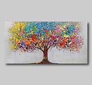 abordables -peinture à l'huile peint à la main abstrait paysage abstrait contemporain moderne grande toile roulée arbres de la vie roulés sans cadre