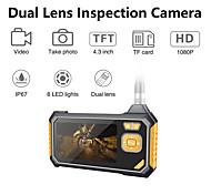 abordables -1080p double lentille industrielle endoscope caméra d'inspection endoscope portatif portable vidéoscope avec 4.3 '' lcd