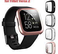 economico -Custodie Per Fitbit fitbit versa 2 Plastica / Vetro temperato Proteggi Schermo Custodia per Smartwatch  Compatibilità